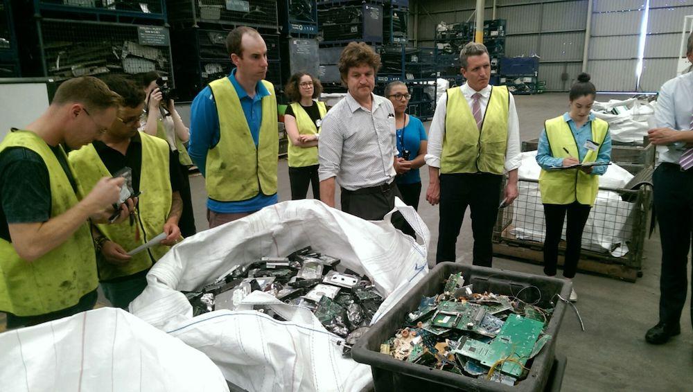 E-waste recycling tour