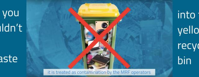 Yellow bin contamination