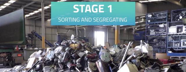 Recycling e-waste process