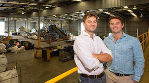 February newsletter image - James and Michael in the facility