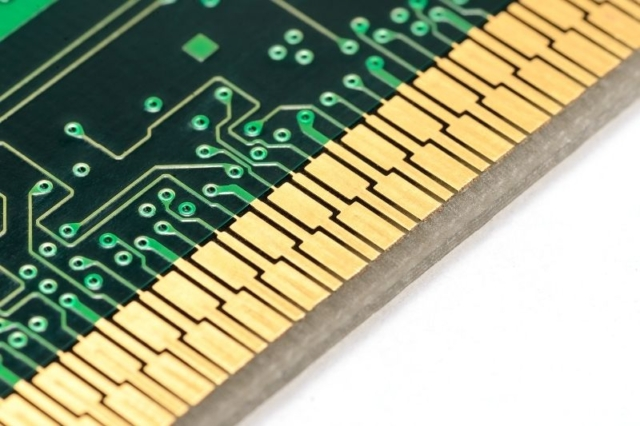 Detail of gold in circuit board
